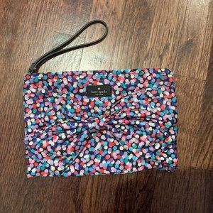 Kate Spade Polka Dot Clutch with bow